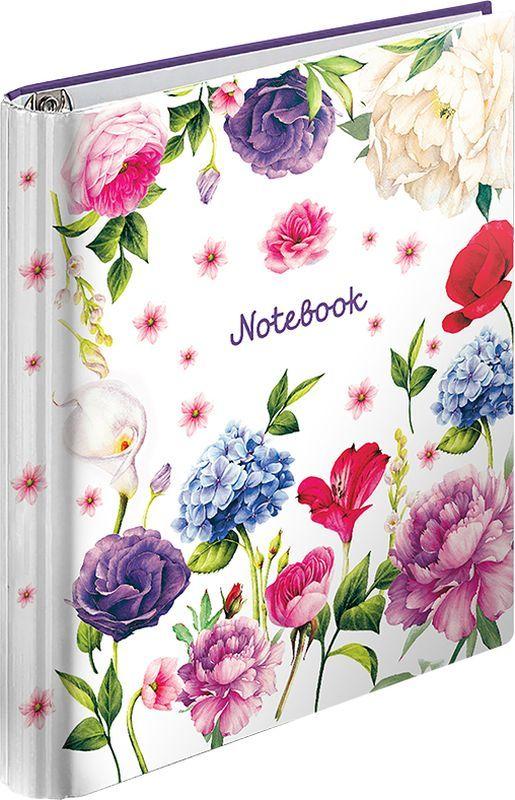 ArtSpace Тетрадь на кольцах Цветы 120 листов в клетку тетрадь flowers 120 листов на кольцах n813