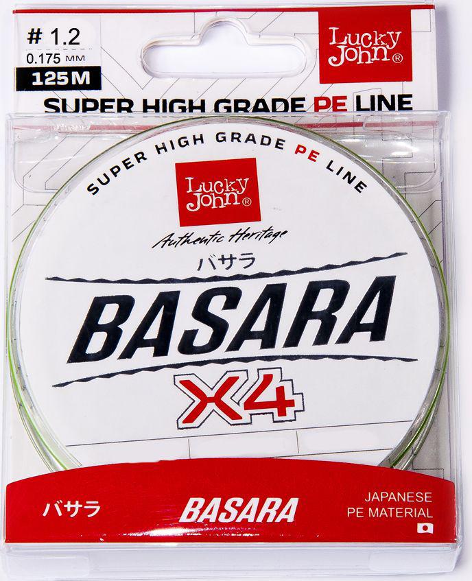 Леска плетеная Lucky John Basara, сечение 0,175 мм, длина 125 м