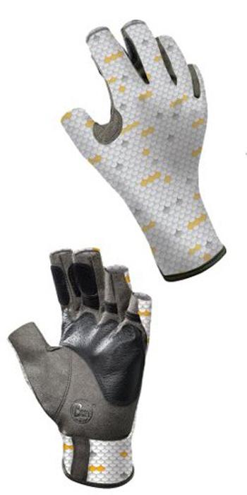 Перчатки рыболовные Buff Angler Scales, цвет: серый. 15228. Размер L/XL (8-8,5)Angler ScalesТехнологичные рыболовные перчатки с креативным дизайном Angler Scales выполнены из прочной стрейчевой ткани. Прекрасно облегают кисть, защищают от проникновения влаги и физических повреждений кожи. Ладонь перчатки не скользит при соприкосновении с мокрой поверхностью. Перчатки имеют фактор защиты от солнца UPF 50+, при этом прекрасно дышат и обеспечивают комфорт. Модель имеет открытые пальцы и удлиненную манжету.