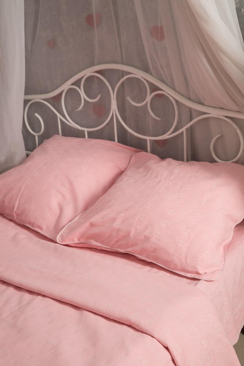 Комплект белья Гаврилов-Ямский Лен, 1,5-спальный, наволочки 70x70, цвет: розовый. 801 пододеяльник гаврилов ямский лен цвет белый синий 175 х 220 см 2348