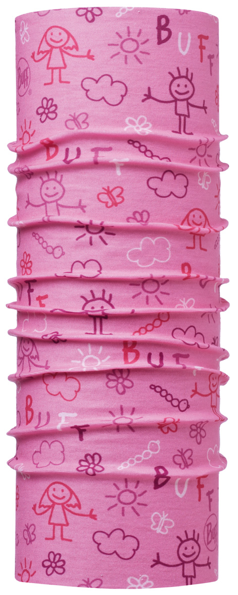 Шарф детский Buff Original Baby Drawing Pink, цвет: розовый. 113401.538.10.00. Размер универсальный113401.538.10.00Идеально подходит для детей, которые любят носить многофункциональные и легкие вещи. Buff можно использовать круглый год для защиты от холода. Дети могут легко носить его с собой в кармане или рюкзаке.Особенности:- высокая эластичность, отсутствие швов, многофункциональная трубчатая форма, 100% микрофибра;- хорошая воздухопроницаемость и отведение влаги;- доступны размеры для самых маленьких;- 100% полиэстер, микрофибра.