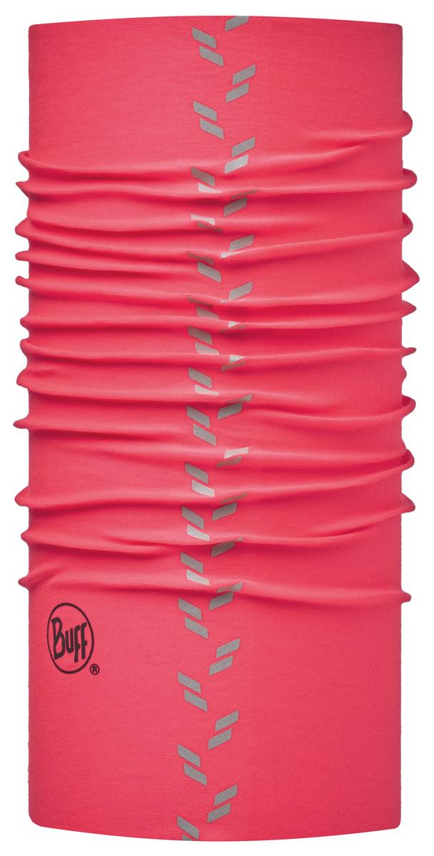 Шарф Buff Reflective Buff Reflective Buff R-Solid Pink Fluor, цвет: розовый. 113111.522.10.00. Размер универсальный113111.522.10.00Buff - это оригинальные, мультифункциональные, бесшовные головные уборы - удобные и комфортные для любого вида активного отдыха и спорта. Оригинальные, потому что Buff был и является первым в мире брендом мультифункциональных, бесшовных и универсальных головных уборов. Мультифункциональные, потому что их можно носить самыми разными способами: как шарф, как шапку, как балаклаву, косынку, бандану, маску, напульсник и многими другими - решает ваша фантазия! Универсальный головной убор, который можно носить более чем двенадцатью способами, который можно использовать при занятии любым видом спорта, езде на велосипеде и мотоцикле, катаясь или бегая на лыжах, и даже как аксессуар в городской одежде. Бесшовные, благодаря эластичности, позволяющей использовать эти головные уборы как угодно и не беспокоиться о том, что кожа может быть натерта или раздражена швами.