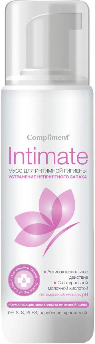 Compliment Intimate Мусс устранение неприятного запаха для интимной гигиены, 160 мл078-02-799259Мягкий мусс специально предназначен для ухода за деликатными зонами, рекомендуется для профилактики грибковых заболеваний, устраняет неприятные запахи и борется с их повторным появлением. Натуральные компоненты средства дезодорируют, питают и смягчают нежную слизистую интимной области.
