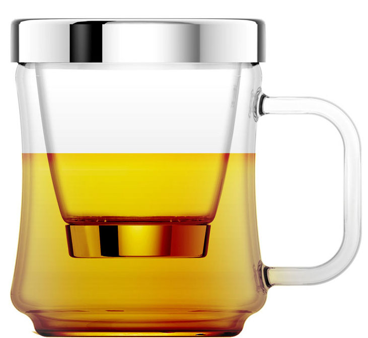 Кружка заварочная Veitron, 440 млGR440Стильная стеклянная чашка со съемной стеклянной колбой для заварки. Дно колбы выполнено из съемного ситечка из нержавеющей стали. Есть крышка. Упаковано в коробку.