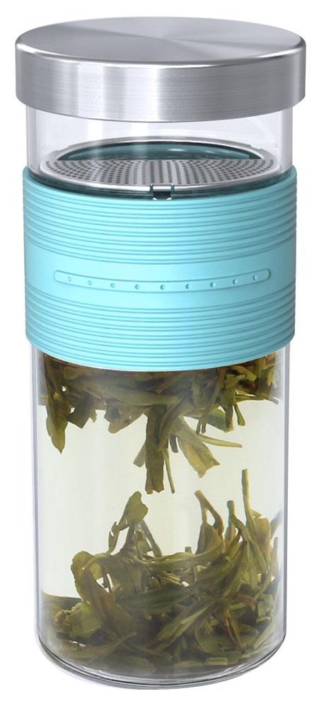 Кружка заварочная Veitron, высокая, с фильтром и крышкой, 350 млLC-Z035Стильный прямой стакан с резиновым рукавом и съемной крышкой. Крышку можно использовать как подставку. Внутри частое ситечко, которое вынимается для мытья.
