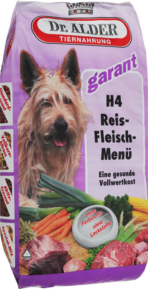Корм сухой Dr. Alders Н4. Рисо-Мясное меню для взрослых собак, 15 кг108Корм сухой Dr. Alders Н4. Рисо-Мясное меню рекомендуется для собак (начиная с 7 месяцев) с нормальной активностью. А также в профилактических целях в качестве диетического корма. Содержит большую долю низкоаллергенных рисовых хлопьев, оказывающих щадящее действие на пищеварительный тракт. Корм способствует: поддержанию оптимального веса, восстановлению имунной системы при аллергии и дерматитах; выздоровлению при заболеваниях внутренних органов: сердца, печени, почек, мочеполовой системы; восстановлению работы желудочно-кишечного тракта, при аллергических реакциях на другие корма.Товар сертифицирован.