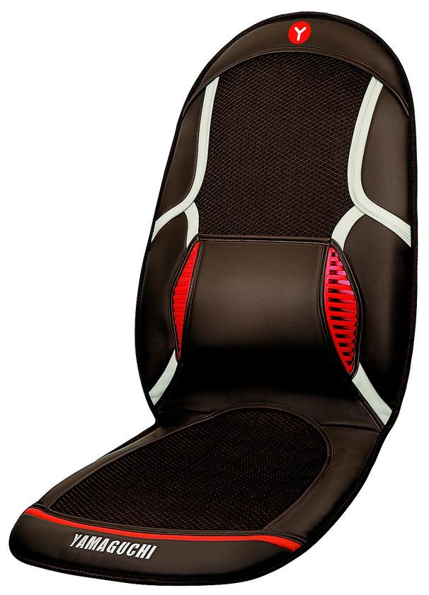 Массажная накидка с вентиляцией Yamaguchi Drive259Yamaguchi Drive - Единственная накидка с функцией вентиляции. Теперь вам не будет жарко в автомобиле даже в 30 градусную жару.С помощью 4-х вибромоторов накидка прекраснопроработает не только ягодичные мышцы, но и мышцы вашей спины.Благодаря анатомической конструкции, поддерживающей поясницу, ваша спина не устанет даже в длительных поездках.Поверхность накидки состоит из воздушных каналов, через которые происходит вентиляция прохладным воздухомВибрационный массаж спины и ягодицАнатомическая конструкцияРегулировка интенсивности обдува воздухом (3 уровня)3 уровня интенсивности вибрационного массажа спины и ягодицОпциональный прогрев поясницыВозможность использования накидки дома, в офисе и в автомобилеНакидка легко крепится на любое кресло или автомобильное сиденье с помощью эластичных ремнейТаймер: 5/10/15 минут