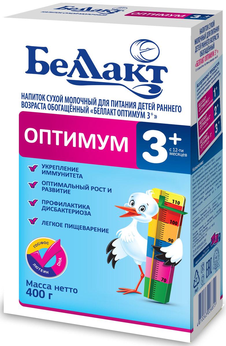 Беллакт Оптимум 3+ смесь молочная сухая с 12 месяцев, 400 г2685Смесь для питания детей с 10 месяцев до 3 лет при недостатке или отсутствии грудного молока.