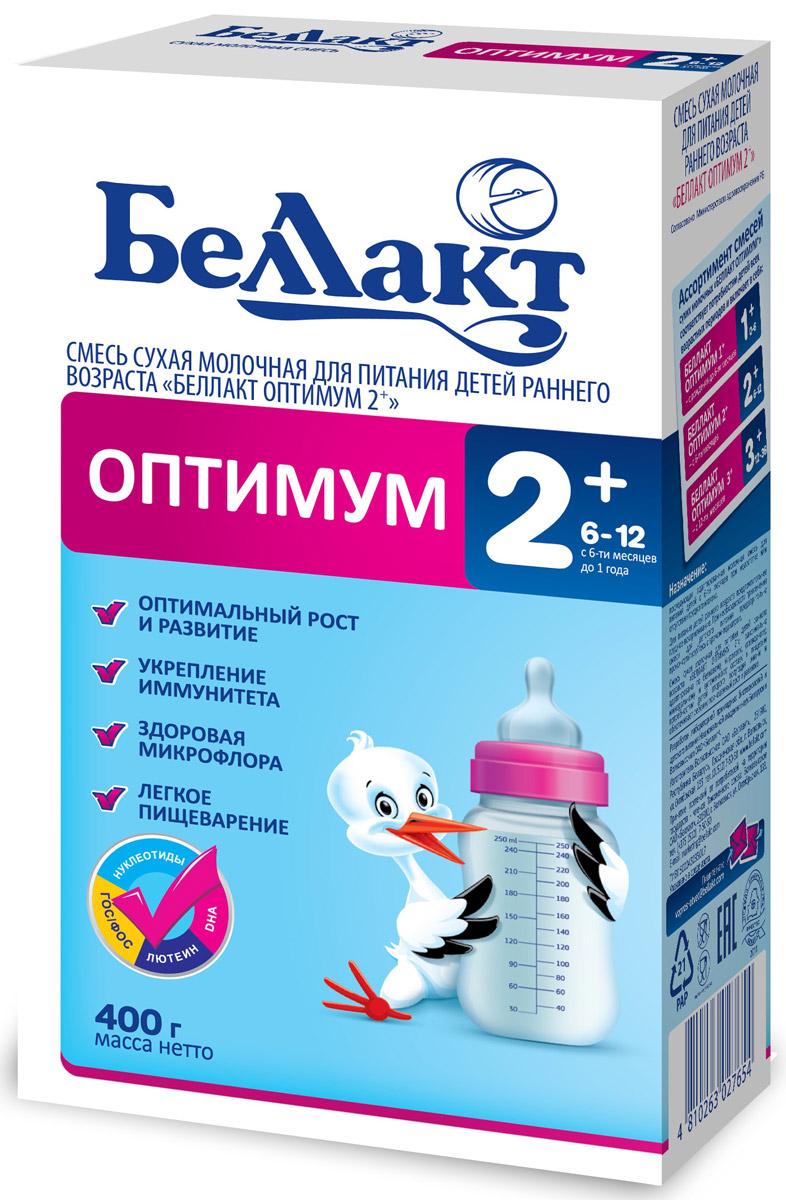 Беллакт Оптимум 2+ смесь молочная сухая с 6 месяцев, 400 г2765Смесь для питания детей с 6 месяцев до 1 года при недостатке или отсутствии женского молока.