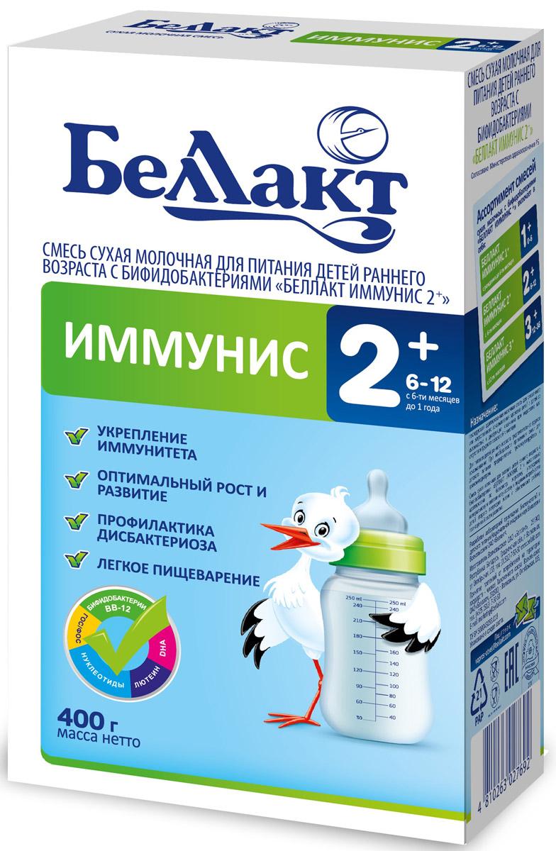 Беллакт Иммунис 2+ смесь молочная сухая с 6 месяцев, 400 г2769Смесь для смешанного или искусственного вскармливания здоровых детей с нарушенным биоценозом кишечника при недостатке или отсутствии женского молока.