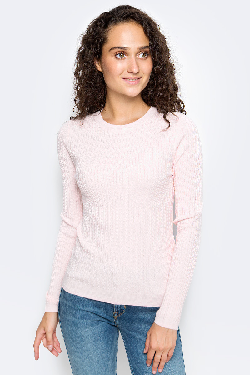 Джемпер женский Sela, цвет: пастельно-розовый. JR-114/1221-7390. Размер L (48) все цены