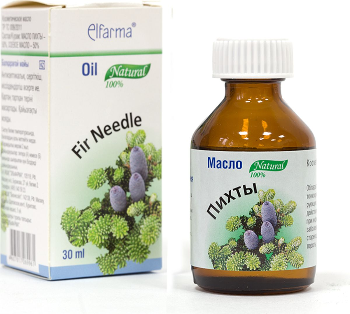 Elfarma Масло Пихта, 30 мл00000001007Широко применяется при заболеваниях верхних дыхательных путей. Ванны, массаж, ингаляции, ароматизация помещения.