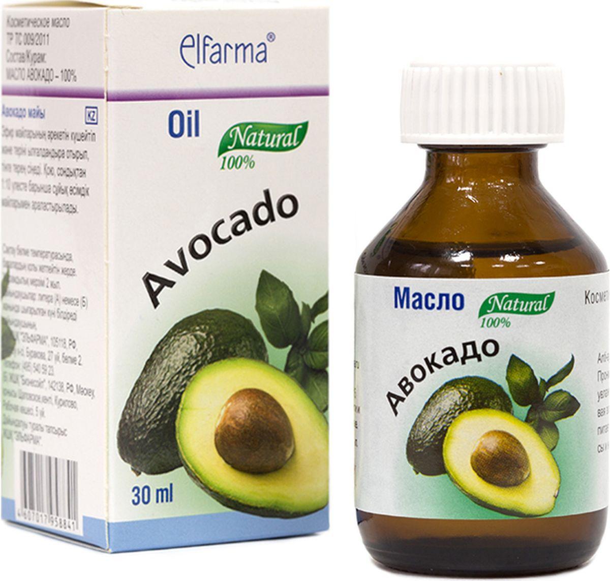 Elfarma Масло Авокадо, 30 мл00000001089Проникает глубоко в ткани, усиливая действие эфирных масел и увлажняет кожу.