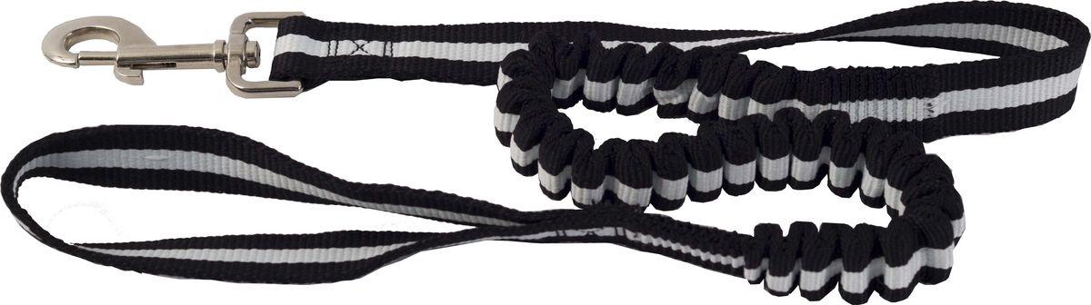 Поводок для собак Каскад, цвет: белый, ширина 2,5 см, длина 90-120 см02225040-08