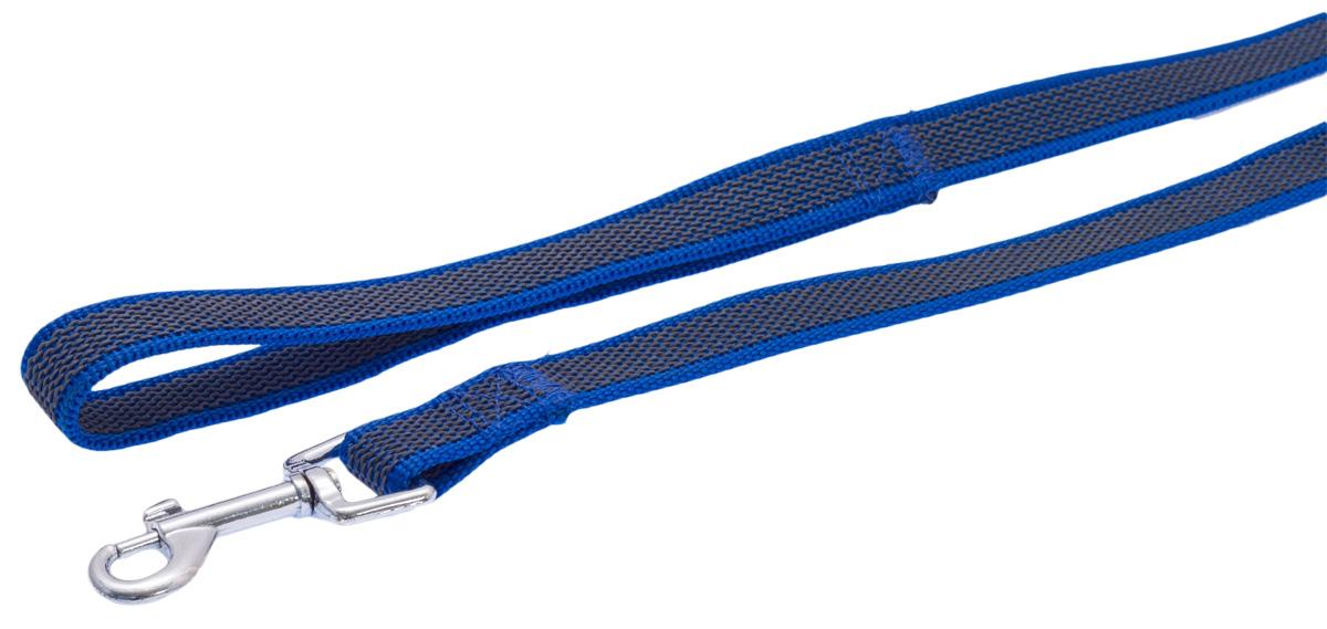 Поводок для собак Каскад, цвет: синий, ширина 2 см, длина 3 м19020003-06