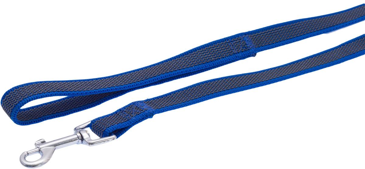 Поводок для собак Каскад, цвет: синий, ширина 2 см, длина 5 м19020005-06