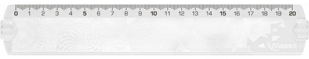 Maped Линейка Geocustom цвет прозрачный 20 см254120_прозрачный, серыйЛинейка Maped Geocustom, выполненная из пластика имеет шкалу на 20 см. Обязательный атрибут любого школьника.Сделайте линейку неповторимой: раскрасьте рисунки на обратной стороне. Высушите. Удалите избыток краски тряпочкой.