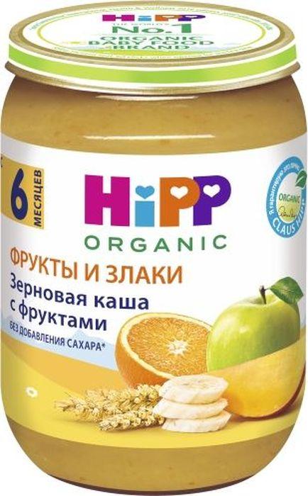 Hipp каша зерновая с фруктами, с 6 месяцев, 190 г9062300103233Пюре Hipp Каша зерновая с фруктами - это пюре с пшеницей, овсянкой, яблоками, бананами и манго. Пшеничная каша из цельного зерна богата цинком, серебром, она содержит много растительного белка, источник витаминов А, D, группы В и ненасыщенных жирных кислот. Каша из горсти пшеницы даст заряд бодрости на целый день.Овсянка не только содержит массу витаминов и минеральных веществ, незаменимых как для детского растущего организма, но и отличается высоким содержанием витамина Е и группы В, так же богата калием, фосфором, магнием, железом. Самым ценным свойством овсянки для современного человека является то, что она способна выводить токсины из организма.Содержащиеся в яблочном пюре пектин и пищевые волокна оказывают благотворное воздействие на функцию кишечника. Отличное сочетание железа с витамином С способствует профилактике железодефицитной анемии у ребенка.Банан - источник калия, который необходим для работы сердца, сокращения мышц, деятельности нервной системы, а также для обмена веществ. Один банан компенсирует дневную потребность человека в калии и магнии. Волокна, которые содержат бананы, способствуют хорошей усвояемости сахара и жиров. Кроме того, тропические плоды являются источником железа и фосфора.По содержанию бета-каротина манго превосходит даже морковь, поэтому манго - прекрасное средство для восполнения дефицита витамина А, сохранения остроты зрения. Мякоть манго богата витаминами группы В, что делает его полезным для укрепления нервной системы. Плодовая кислота манго стимулирует пищеварение, деятельность почек и кишечника. В ядре манго содержатся вещества с жаропонижающим и иммуностимулирующим действием.Пищевая ценность на 100/г: белки - 0,9 г, углеводы - 15,9 г, жиры - 0,1 г.