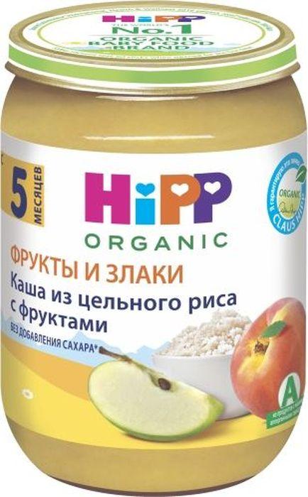 Hipp каша из цельного риса с фруктами, с 5 месяцев, 190 г9062300103271Пюре Hipp Каша из цельного риса с фруктами - это пюре с рисом, яблоками и персиками. Рис полезен детям, в отличие от пшеницы он не содержит глютена, который часто является аллергеном. Рисовая каша легко переваривается и усваивается из-за низкого содержания клетчатки, богата витаминами группами В и калием. Рис рекомендуется деткам, страдающим от расстройства желудка. Содержащиеся в яблочном пюре пектин и пищевые волокна оказывают благотворное воздействие на функцию кишечника. Отличное сочетание железа с витамином С способствует профилактике железодефицитной анемии у ребенка. Персик - источник калия, который необходим для работы сердца, сокращения мышц, деятельности нервной системы. Пюре богато витаминами и минеральными солями, пектином, способным выводить из организма токсические вещества. Содержит органические кислоты и клетчатку, благоприятно воздействующую на работу кишечника.