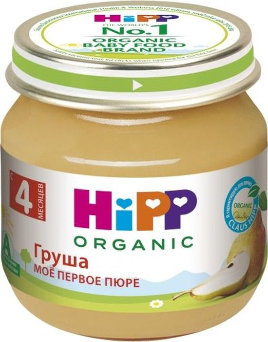 Hipp пюре груша, мое первое пюре, с 4 месяцев, 80 г hipp пюре hipp моё первое пюре яблоко с 4 мес 80 г page 1