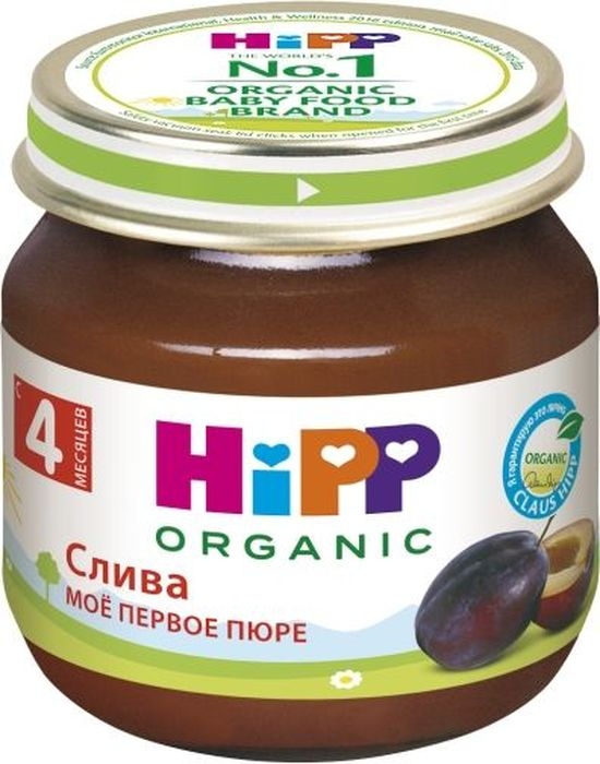 Hipp пюре слива, мое первое пюре, с 4 месяцев, 80 г9062300125068Слива содержит большое количество сахаров, органических кислот, витаминов (В1, В2, С, К, Р, РР, Е), каротин, клетчатку, пектины, минеральные, дубильные и красящие вещества. Витамин В2, которого в сливе гораздо больше, чем в других плодах, способствует укреплению нервной системы и улучшает белковый обмен. Особенно много в сливе витамина Р и веществ с действием витамина P, которые способствуют снижению кровяного давления и укрепляют кровеносные сосуды. Высокое содержание антиоксидантов способствует повышению иммунитета, усиливает сопротивляемость организма в неблагоприятной экологической обстановке. Пищевые волокна в сливе мягко регулируют стул, оказывая послабляющее действие