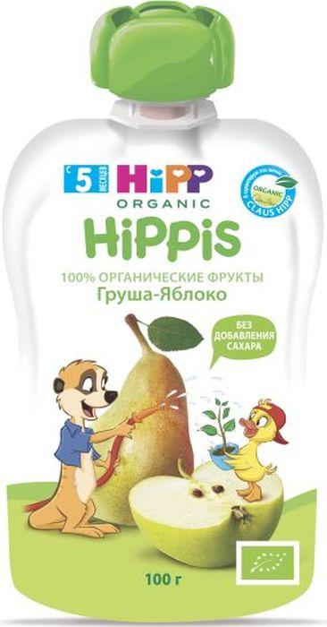 Hipp пюре груша, яблоко, с 5 месяцев, 100 г9062300133339Продукт детского питания для детей раннего возраста, продукт прикорма – пюре фруктовое, гомогенизированное, пастеризованное.