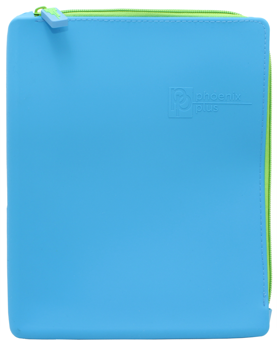 Феникс+ Папка для тетрадей формат А5+ цвет синий40260Папка для тетрадей Феникс+ - это удобный и функциональный инструмент, который идеально подойдет для хранения различных бумаг формата А5+, а также школьных тетрадей и письменных принадлежностей.Папка изготовлена из прочного силиконаи надежно закрывается на застежку-молнию. Папка практична в использовании и надежно сохранит ваши бумаги и сбережет их от повреждений, пыли и влаги, а закругленные уголки обеспечат долговечность и опрятный вид папки.
