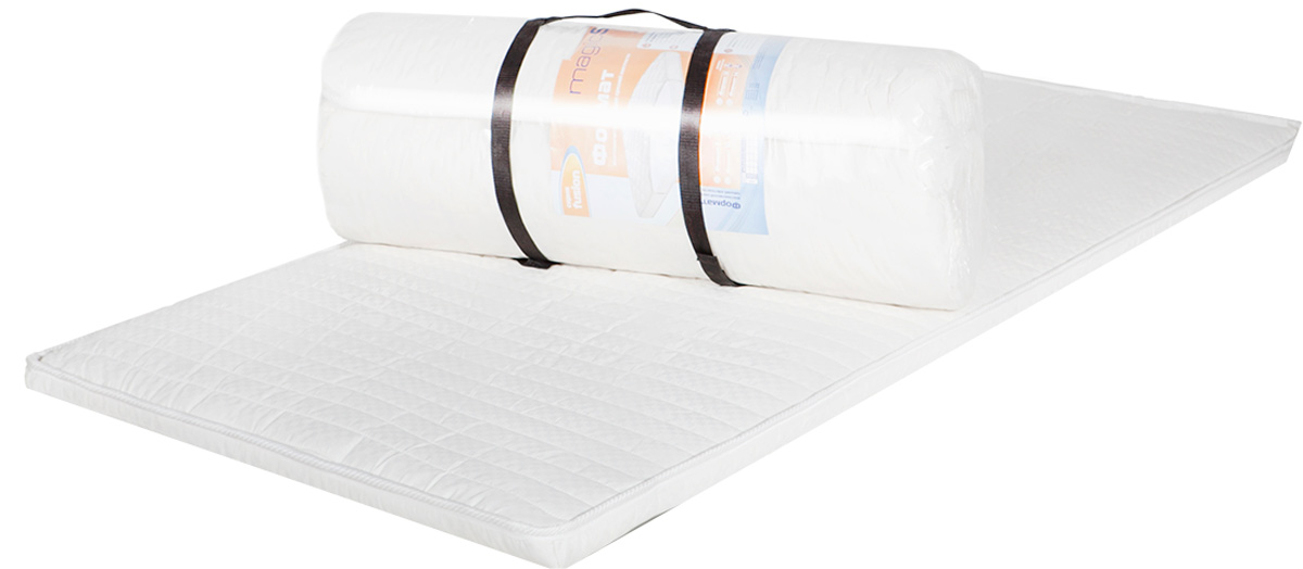 Матрас MagicSleep Формат 5, 140 х 190 смм.297 140х190Беспружинный матрас средней жесткости.Матрас состоит из высокоэластичного пенополиуретана Эргофоам. Это мягкий, комфортный материал, повышающий ортопедические качества матраса.Высота 5 см. Поставляется в скрученном виде.