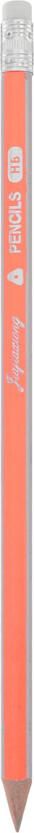 Карандаш чернографитный с ластиком цвет корпуса оранжевый1299431_оранжевыйКарандаш с ластиком - идеальный инструмент для самовыражения и развития.Корпус карандаша выполнен из высококачественной древесины.Грифель имеет твердость HB.