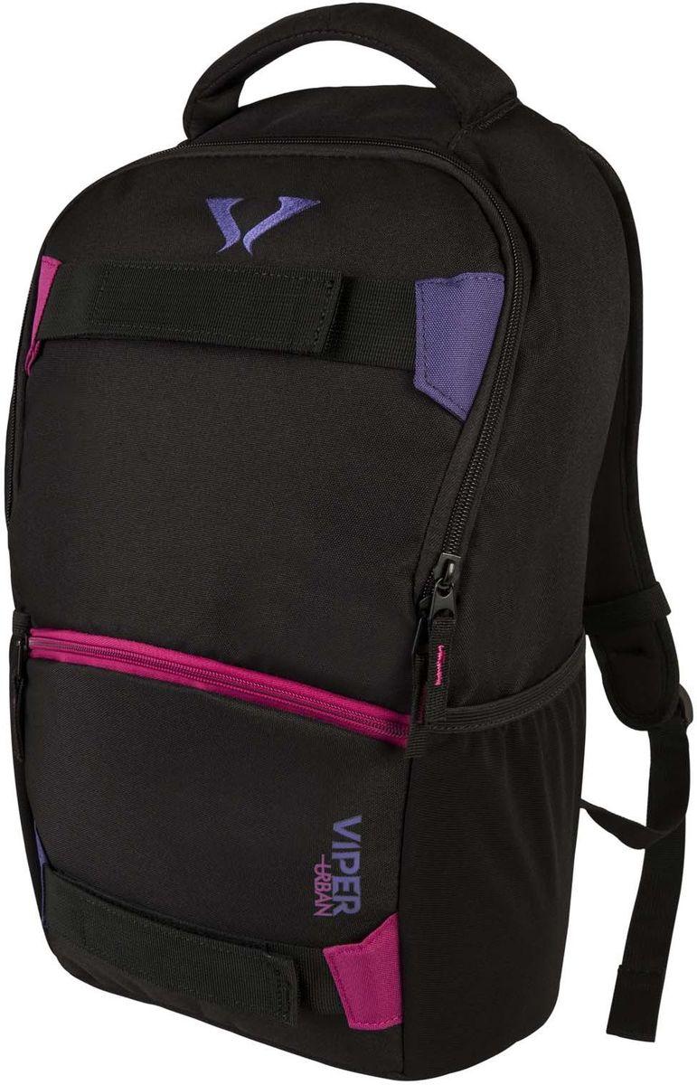 """Target Collection Рюкзак Black F.V.16234У рюкзака одно большое отделение вмещаемое ноутбук до 15"""". Застегивается на молнию. Имеются два боковых кармана. Размер:48 ? 29 ? 13см.Объем: 18 л."""