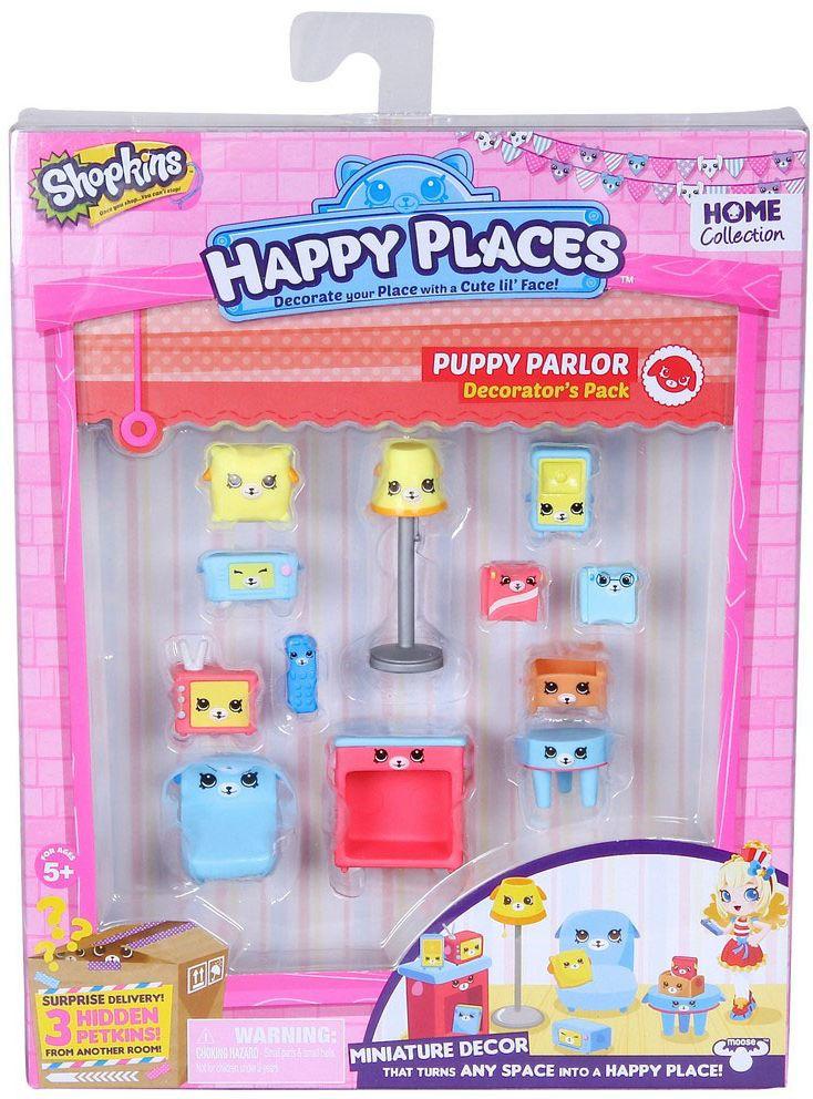 Shopkins Набор фигурок Happy Places Щенки для гостиной набор мебели для гостиной эйва