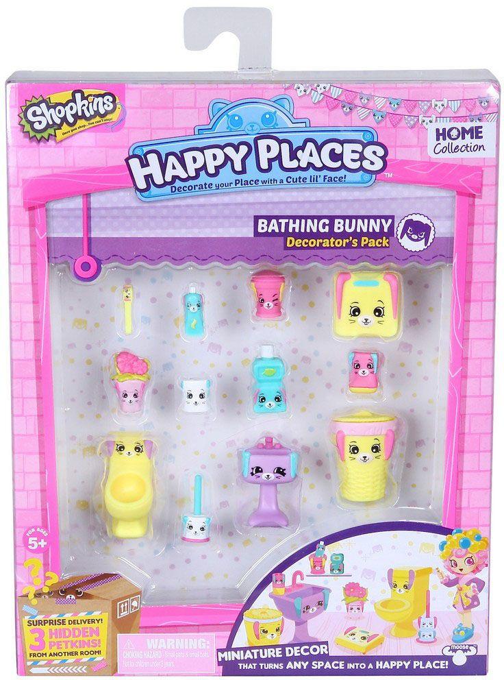 Shopkins Набор фигурок Petkins Кролики для ванной игровой набор shopkins пончик счастья донатины moose
