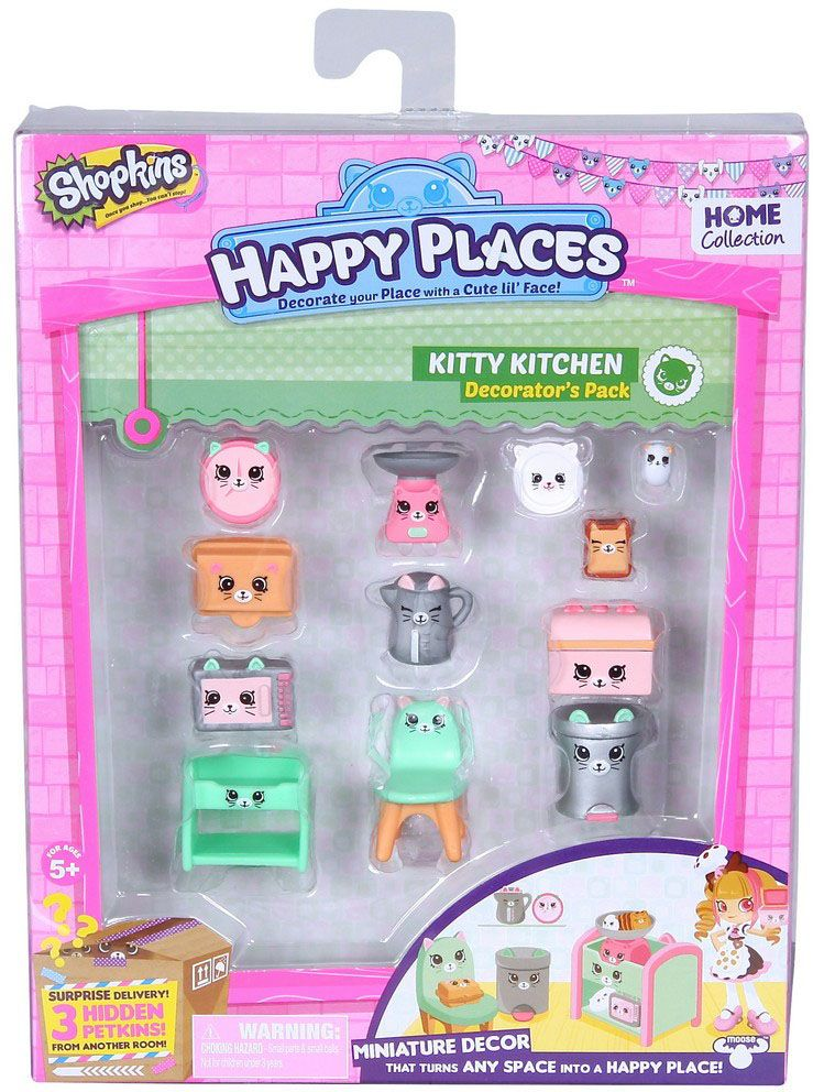 Shopkins Набор фигурок Happy Places Кухня Китти игровые наборы shopkins игровой набор веселая кухня