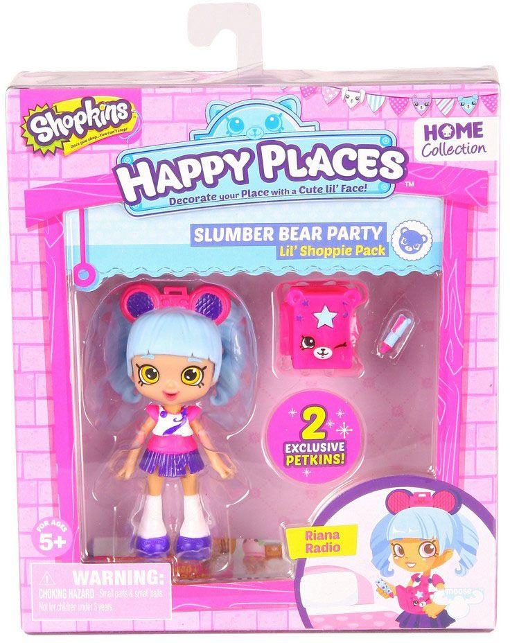 MooseИгровой набор Happy Places Петкинс Shoppie Риана Радио с куклой