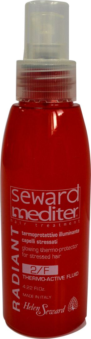 Helen Seward Thermo Active Fluid 2/F Термоактивный защитный кондиционер для волос, 125 мл257Термоактивный защитный кондиционер для волос Helen Seward, гарантирует надежную защиту от негативного воздействия термических процедур – укладки феном, утюжком или плойкой. Благодаря содержанию в составе полифенолов красного винограда обеспечивается андиоксидантное, термозащитное и увлажняющее действие