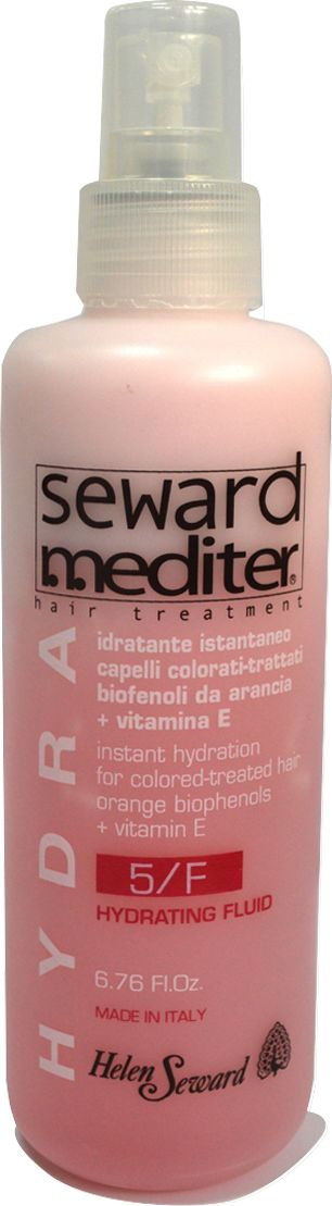 Helen Seward Hydrating Fluid 5/F Защитный несмываемый кондиционер для окрашенных волос, 200 мл529Несмываемый Hydrating Fluid 5/F из увлажняющей серии Mediter Hydra обеспечит надежную защиту сухих и поврежденных волос от воздействия негативных факторов, в том числе термических процедур – укладки феном, утюжком, плойкой. Витамин Е и бифенолы красного апельсина удерживают влагу внутри волоса, препятствуя тем самым дегидратации. Антиоксидантное воздействие флюида проявляется в предупреждении преждевременного старения волос, длительном сохранении насыщенности красящего пигмента после окрашивания.