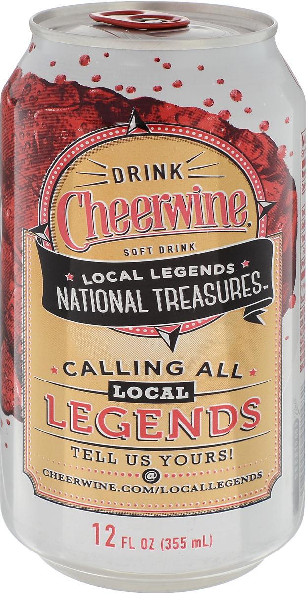 Cheerwine Diet напиток газированный, 355 мл70925001482Cheerwine - насыщенный вкус спелой вишни чернокорки.Производство - США.Традиционный напиток Северной Каролины. Вкус свежей вишни напоминает молодое игристое вино.