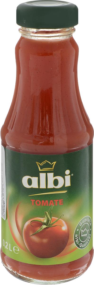 Albi сок томатный 100%, 0,2 л4003240474002Компания Albi - известный производитель соков из Германии, крупнейшая семейная фирма, на родине входящая в тройку лидеров продаж. Основой успеха фирмы Albi стали высокое качество сырья и технология изготовления со сбережением полезных свойств плодов.Изготавливается продукция Albi из местного сырья нового урожая. Благодаря усовершенствованной системе контроля, отбираются только спелые и здоровые фрукты и овощи. Плоды поступают на переработку напрямую из сада, поэтому продукция Albi сохраняет все витамины и минералы отборных плодов.Оригинальные и классические фруктовые, овощные соки, нектары и фруктовые напитки представляют широкий ассортимент продукции Albi.