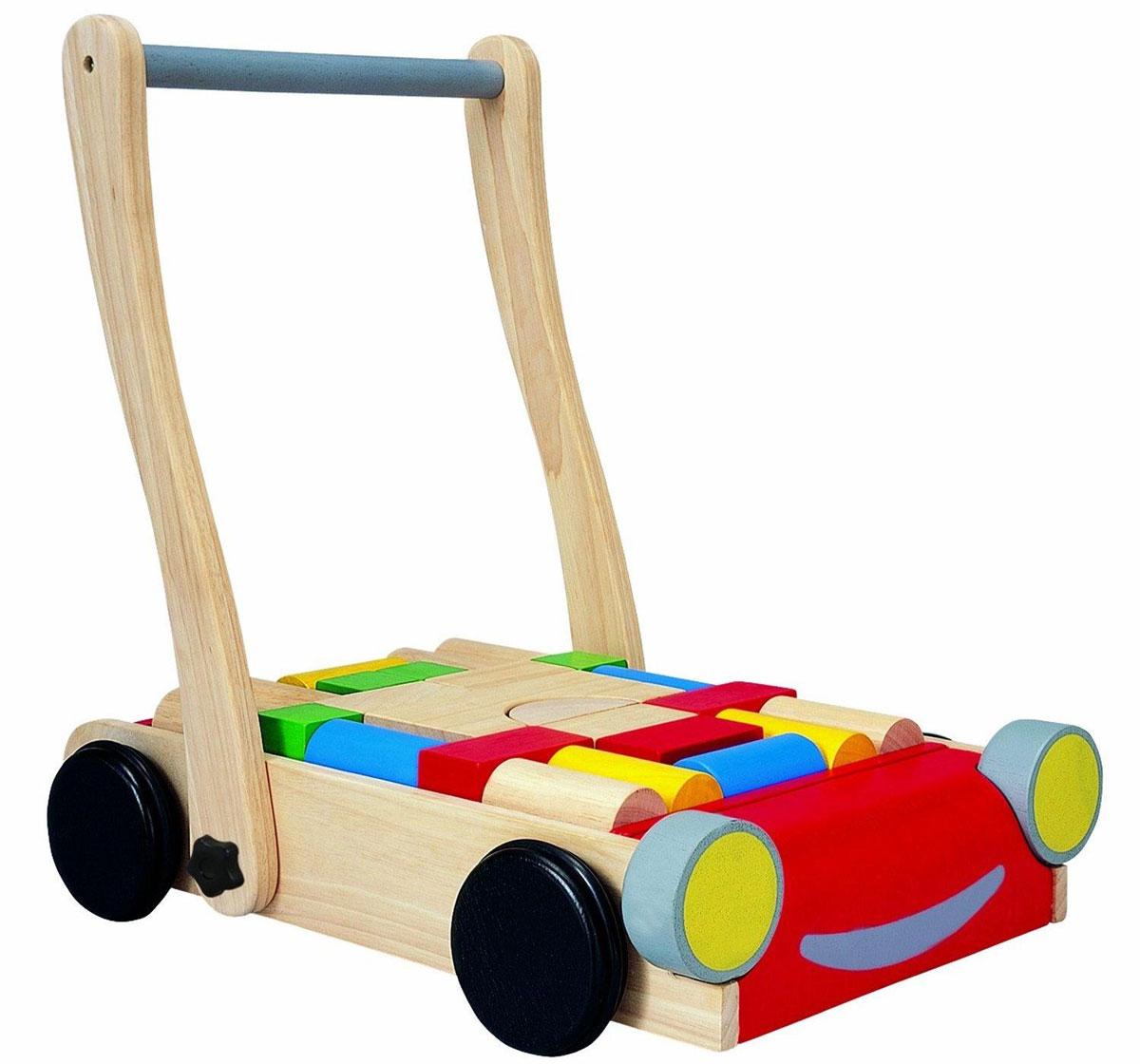 Plan Toys Конструктор Тележка с блоками конструкторы plan toys игра кактус