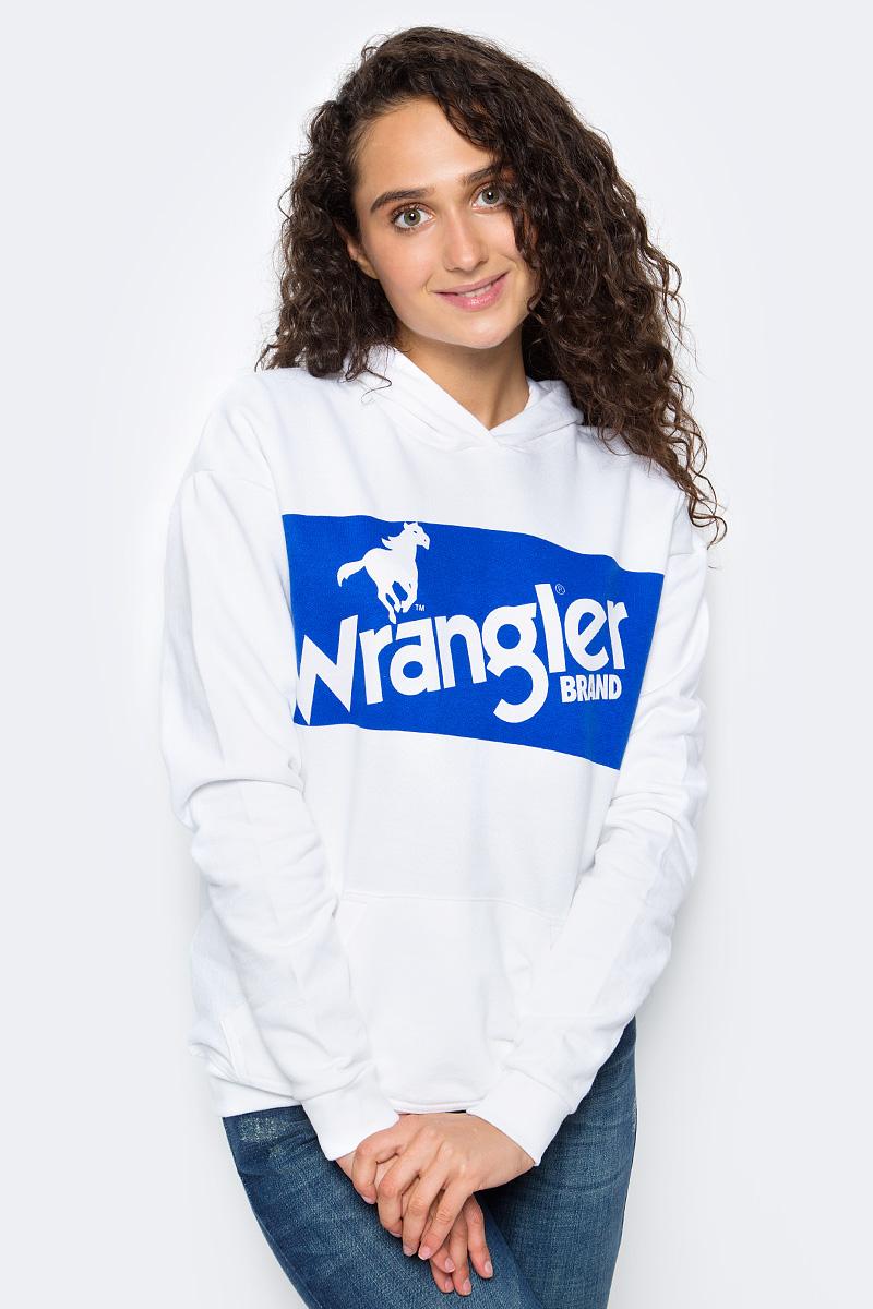 Толстовка женская Wrangler, цвет: белый. W6052HY12. Размер S (42)