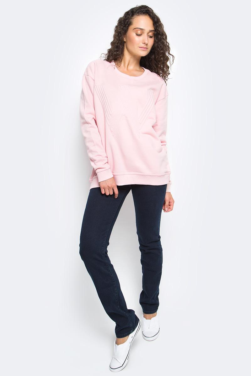 Джемпер женский Wrangler, цвет: светло-розовый. W6051H8TU. Размер M (44)W6051H8TUДжемпер Wrangler изготовлен из натурального хлопка. Модель выполнена с длинными рукавами и круглым вырезом горловины. Джемпер дополнен широкими эластичными резинками по низу изделия и на манжетах рукавов.