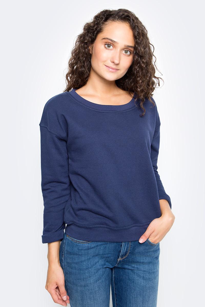 Купить Свитшот женский Wrangler, цвет: синий. W6043HY49. Размер XS (40/42)