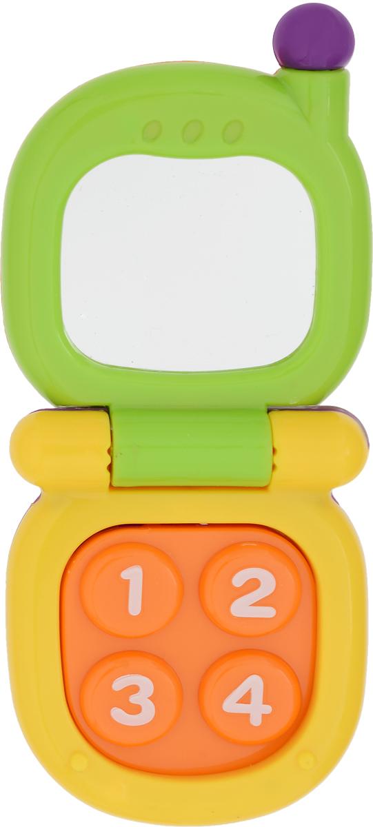 Mioshi Игрушка Телефон с зеркальцем цвет зеленый желтый игрушка mioshi tech waterjet yellow mte1201 034