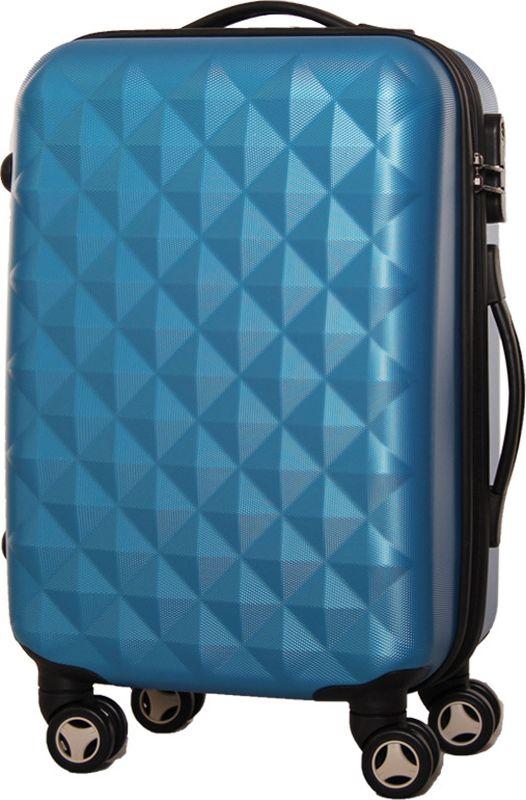 Чемодан Proffi, на колесах, цвет: синий, 43 х 30 х 67 см, 60 л. PH8368 подушка декоративная proffi home квадраты 43 х 43 см