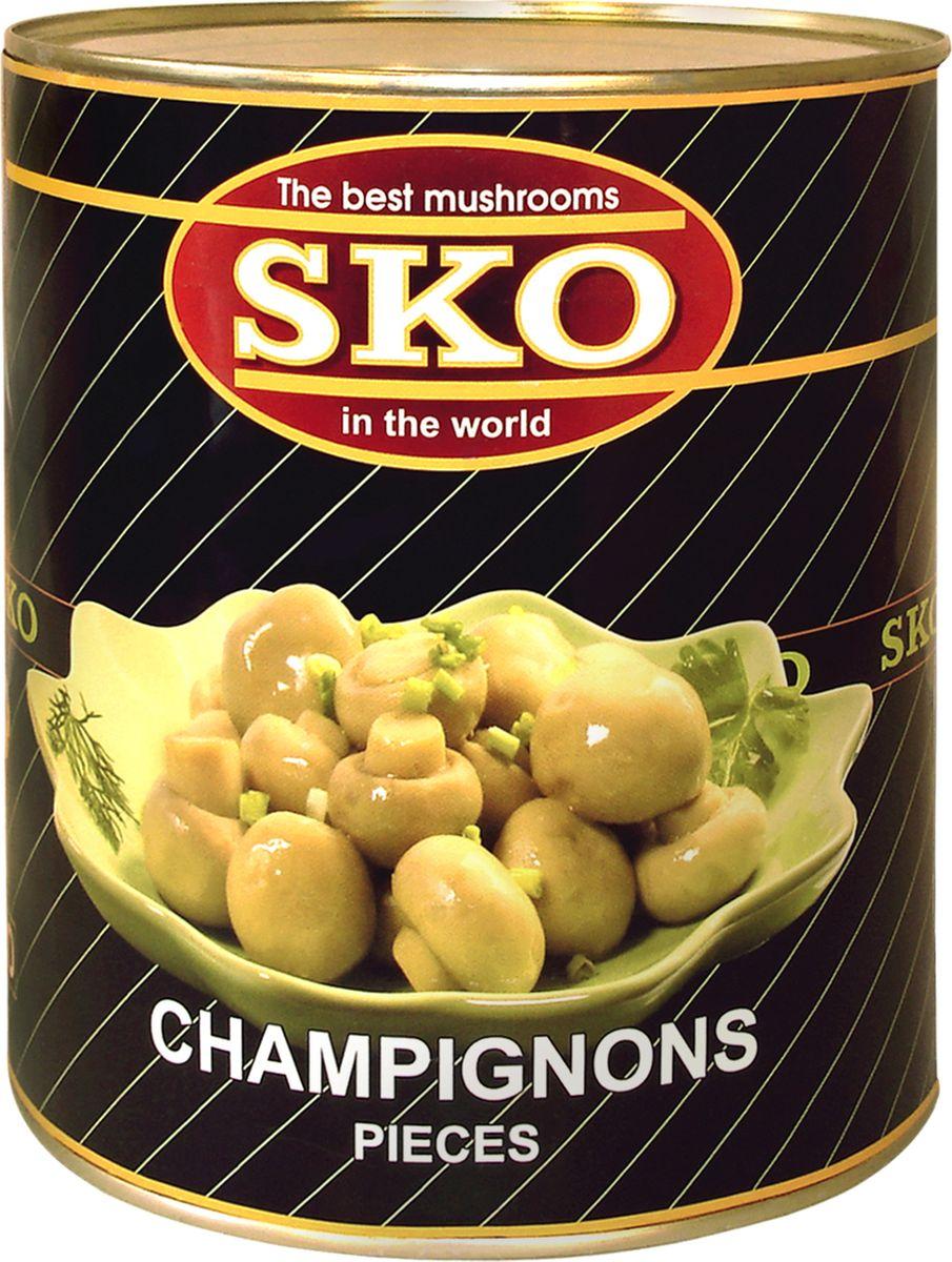 SKO шампиньоны стерилизованные резаные, 3,1 л мистраль рис акватика mix 500 г