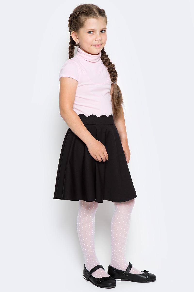 Водолазка для девочки LeadGen, цвет: розовый. G960005116-172. Размер 140G960005116-172Водолазка LeadGen изготовлена из качественного материала на основе хлопка. Модель выполнена с высоким воротничком и короткими рукавами. На груди имеются декоративные строчки.