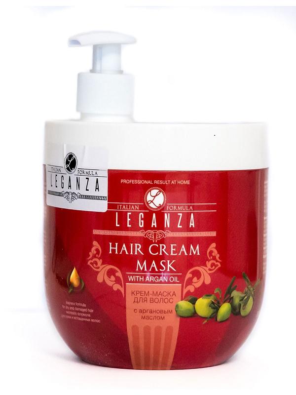 Leganza Крем-маска для волос с аргановым маслом, 1000 мл213-2-2771Крем-маска для волос LEGANZA с аргановым маслом с дозатором. Уникальная и полезная маска с высоким содержанием Арганового масла, известного как источник здоровья и красоты. Маска быстро проникает вглубь волоса, не утяжеляя его, и способствует восстановлению естественной влажности. Питательная формула улучшает состояние сухих и истощенных волос, придает им жизненность и блеск, способствует легкой и быстрой укладке.