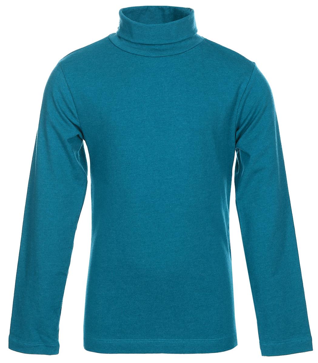 Джемпер для мальчика Sela, цвет: сине-зеленый меланж. Tt-711/352-7341. Размер 104, 4 годаTt-711/352-7341Джемпер для мальчика Sela выполнен из хлопка с добавлением полиэстера и эластана. Модель имеет длинные рукава и воротник-гольф. Джемпер выполнен в классическом однотонном дизайне.