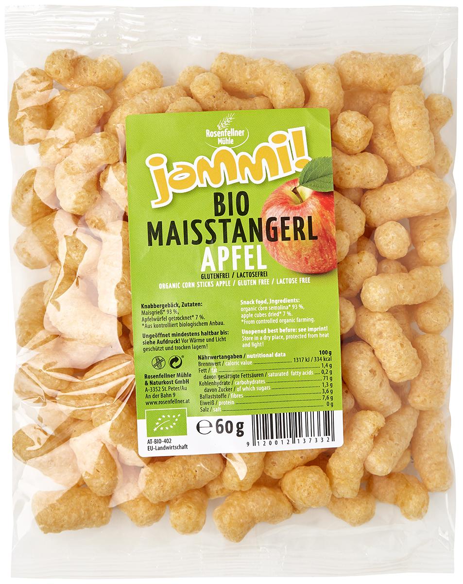 Rosenfellner Muhle органические кукурузные палочки с яблоком, 60 г