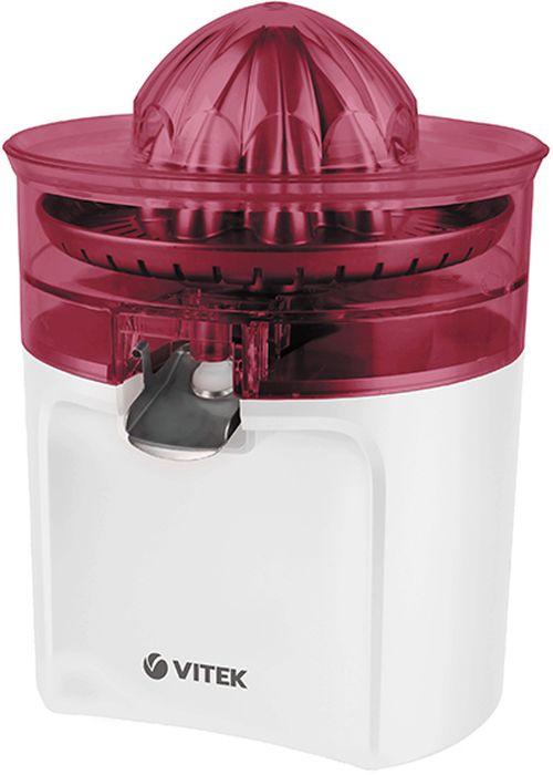 Vitek VT-3659(W), Red соковыжималкаVT-3659(W)Эргономичная электрическая соковыжималка Vitek VT-3659(W) с системой капля-стоп для цитрусовых поможет с легкостью приготовить ваш любимый напиток.